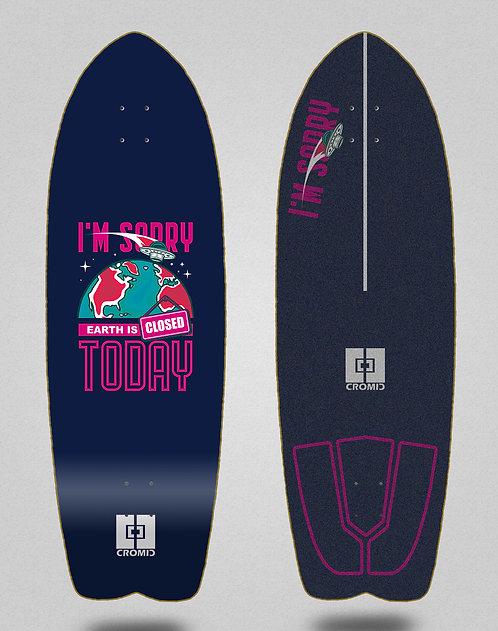 Cromic surfskate deck - Covid Earth blue 29 fish