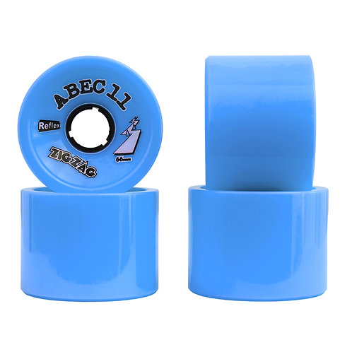 ABEC 11 Zig Zag 66mm Blue 81a (set 4)