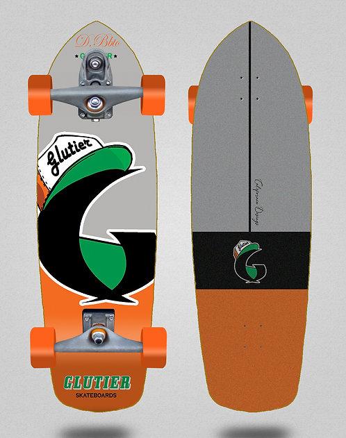 Glutier surfskate : California orange 34 T12 trucks