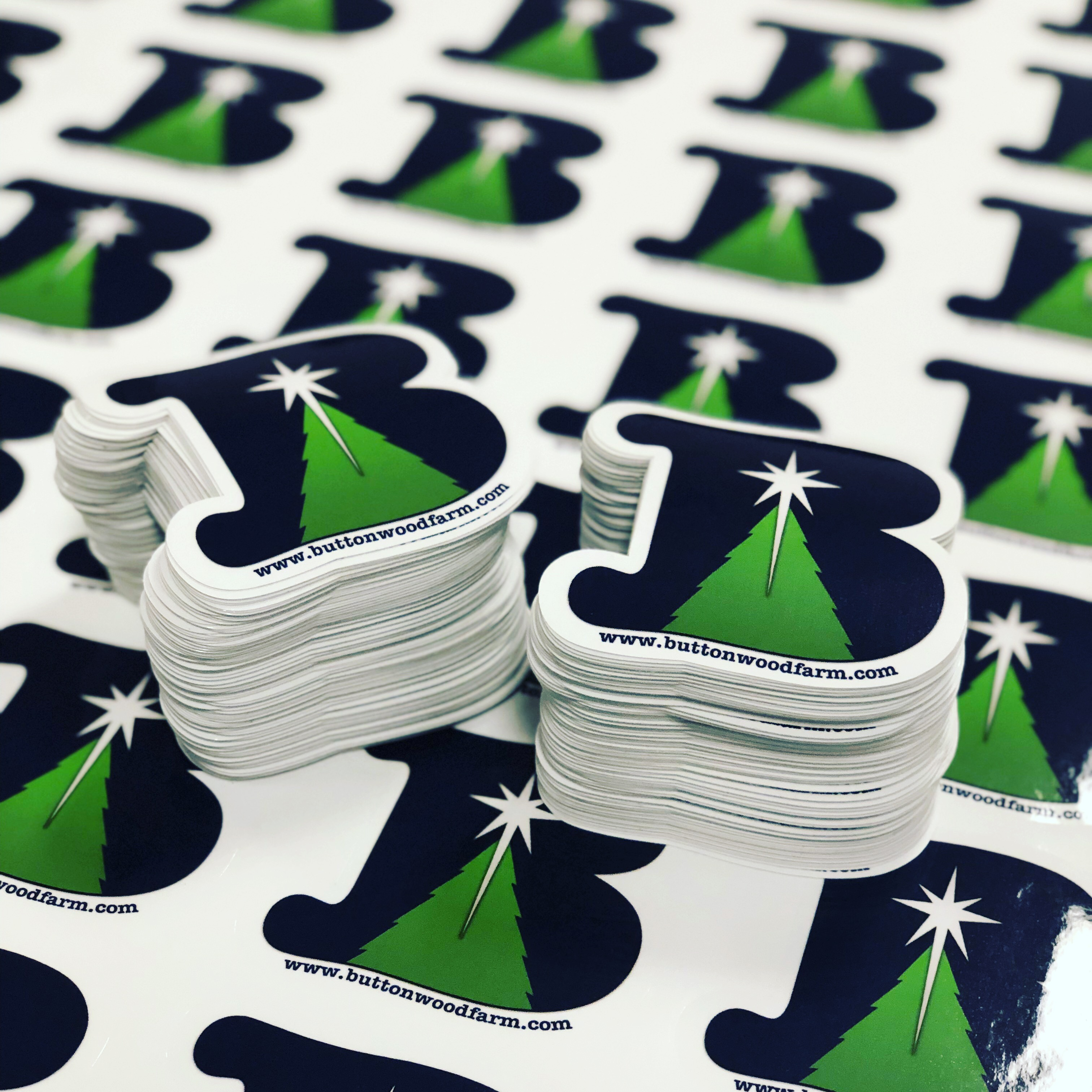 Button Wood Farms Stickers