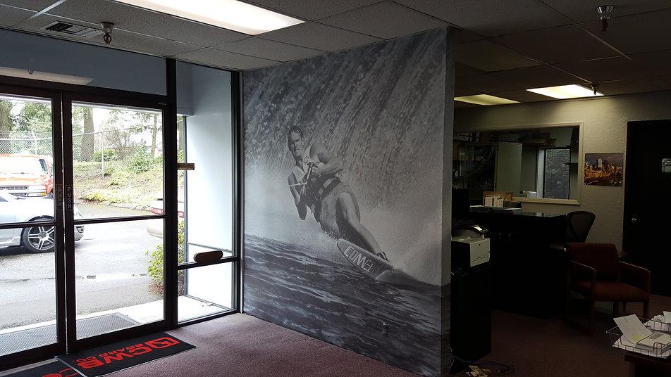Printed Wall wrap we installed in Lynnwood Wa