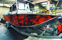 Boat wrap we printed and installed