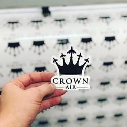 Custom Printed Crown Air Sticker