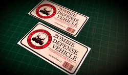 zombie defense vehical sticker picture