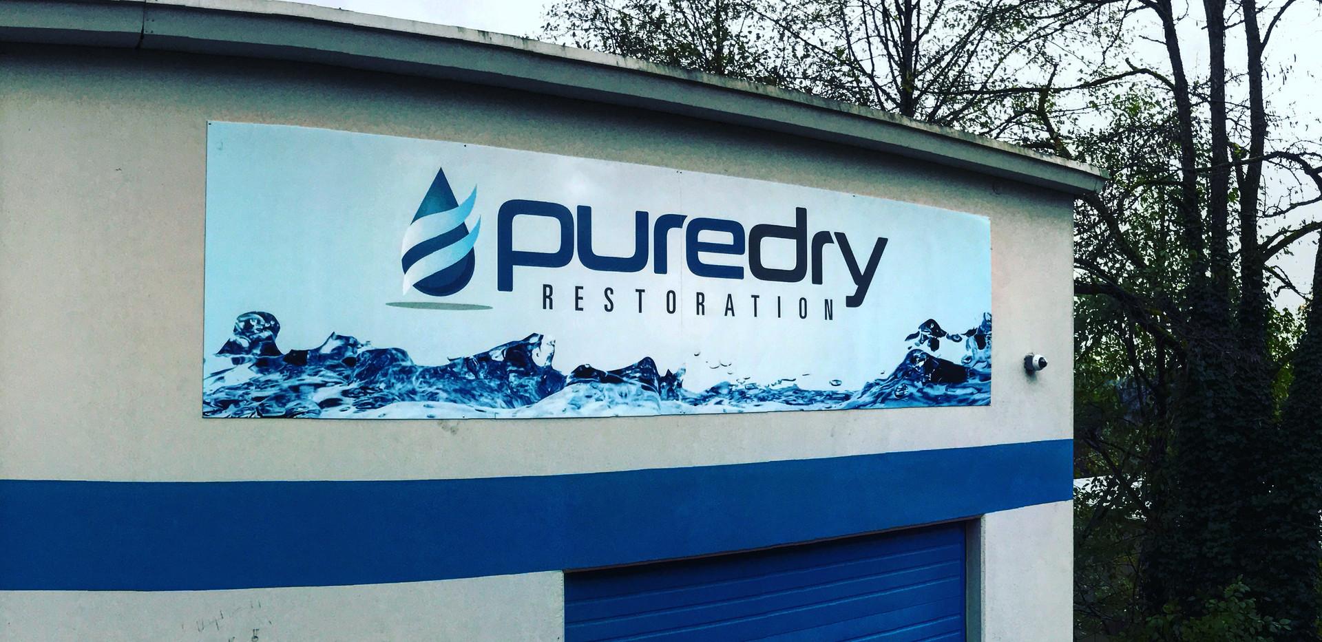 Puredry Building Signage