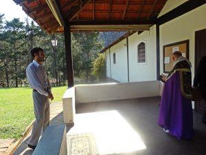 Batismo de adulto no Mosteiro