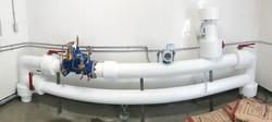 Tuyauterie de plomberie avec PVC