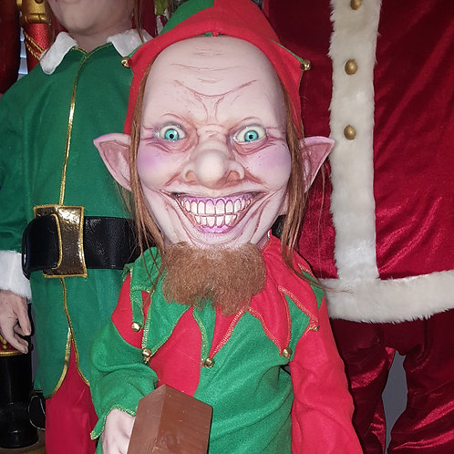 Christmas Holiday Speedy Elf Animated Prop