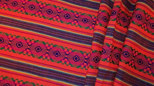 Cambaya Fabric- Orange- Per yard