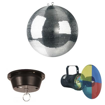 Boule à facette + projecteur + moteur rotatif