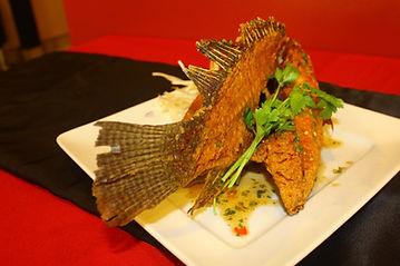 Green Banana Leaf Dish Fried Fish