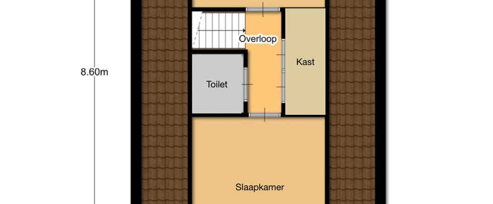 Plattegrond Het Boshuisje - Bovenverdieping