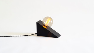 Wedge Lamp Black