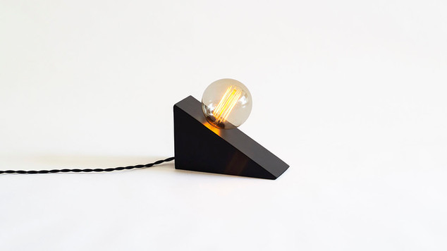 Wedge Lamp Black