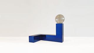 Snake Lamp Blue Tint