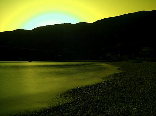 Autorský tisk fotografie Západ infračerveného slunce