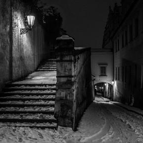 Zasněžená pražská procházka