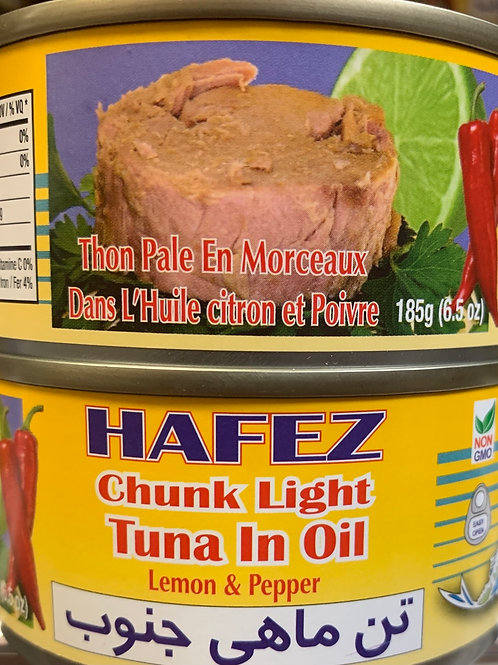 Hafez Chunk Light Tuna in Lemon & Pepper