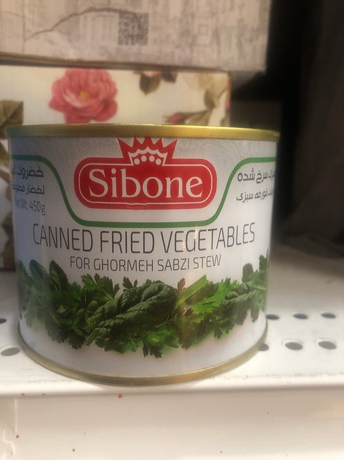 Sibone Canned Fried Vegetables for Ghormeh Sabzi
