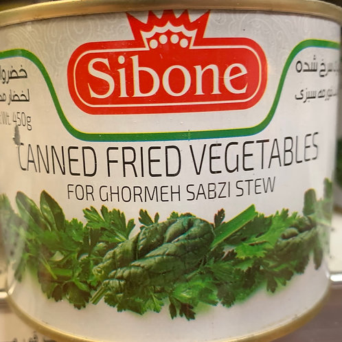 Sibone Can Foods Fried Vegetables for Ghormeh Sabzi