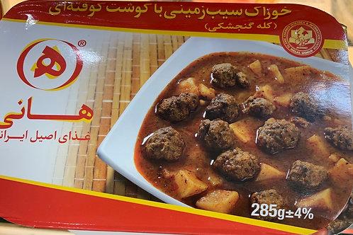 Hani potato with meatballs