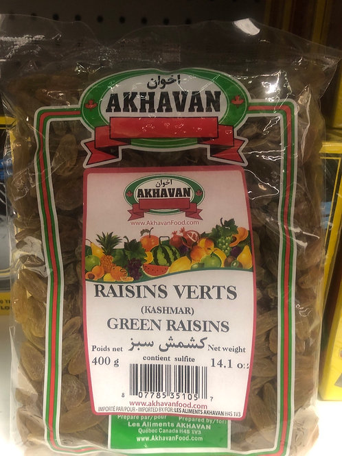 Akhavan Green Raisins