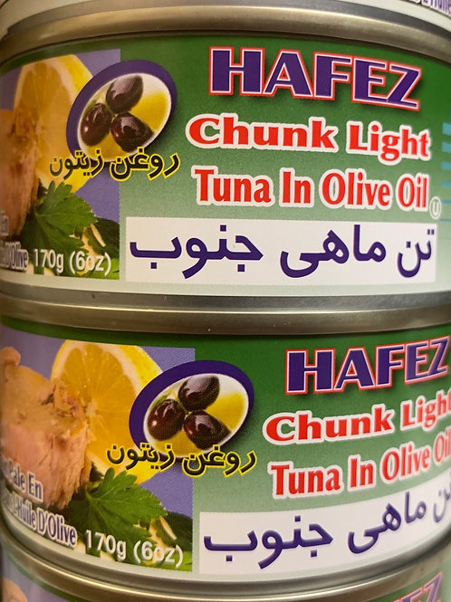 Hafez Chunk Light Tuna in Olive Oil