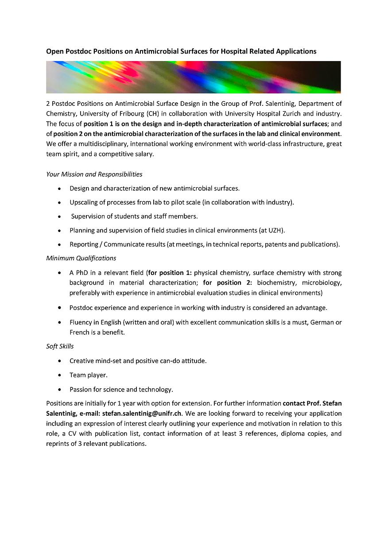 20201217_Postdocs on Antimicrobial Surfa