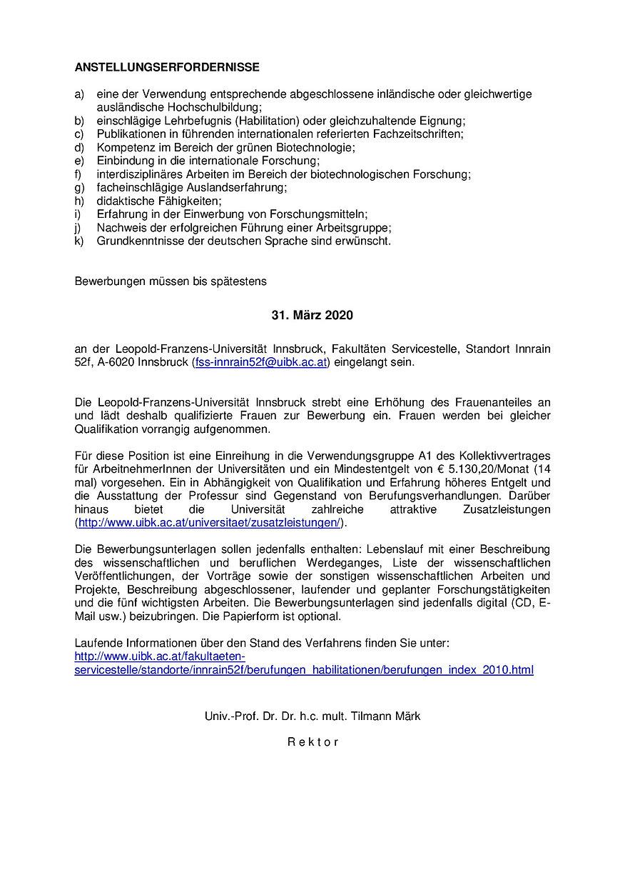 Uni Innsbruck_Ausschreibung Pflanzliche