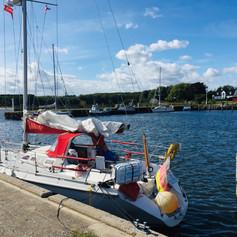 SY Summer Dream im Hafen von Hesnaes/DK