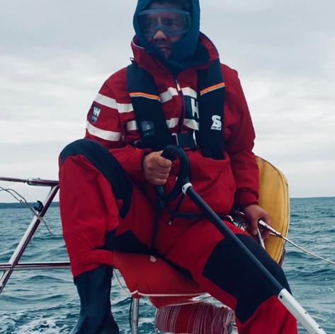 Ohne Skibrille war bei überkommender Gischt und Wellen wenig zu erkennen!