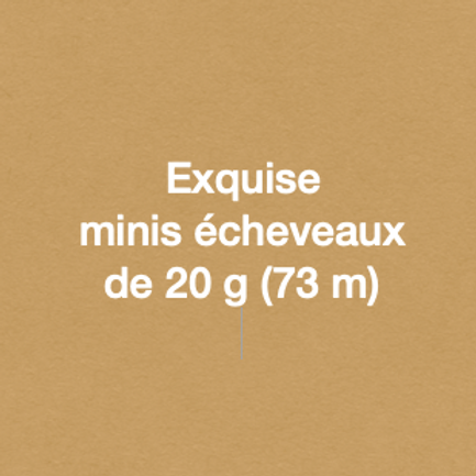 Exquise - 100% sw mérinos single MINIS - neutres