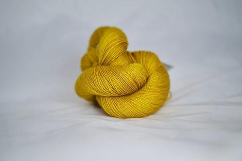 Eria fingering - 80% sw mérinos 20% soie - golden kiwi