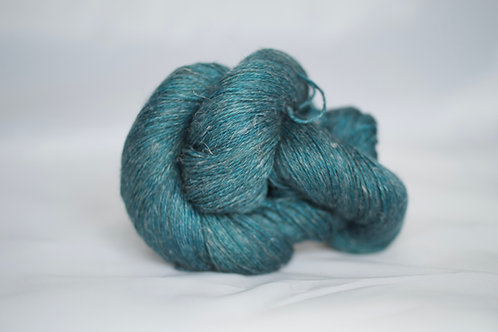 Bastet fingering - 50% baby alpaca 25% silk 25% lin NON SW - paon