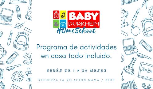 Programa Homeschool - Bebés de 1 a 36 meses