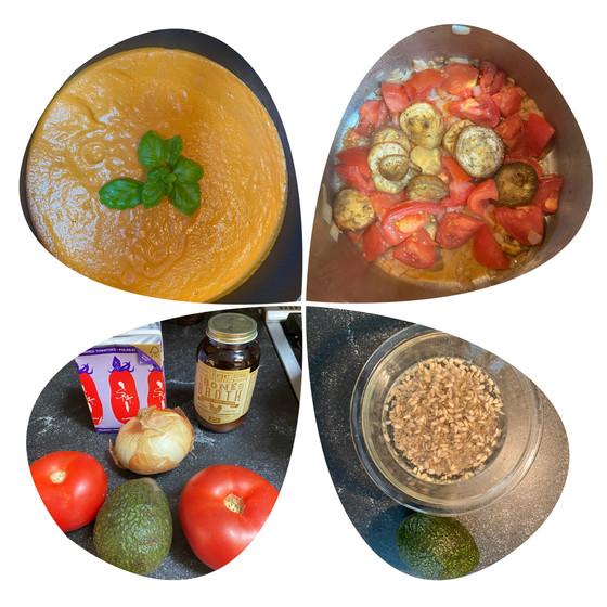 Dairy Free Creamy Tomato and Eggplant Soup