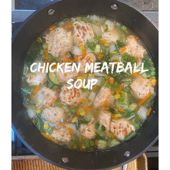 Chicken Meatball Soup-Paleo-Whole 30