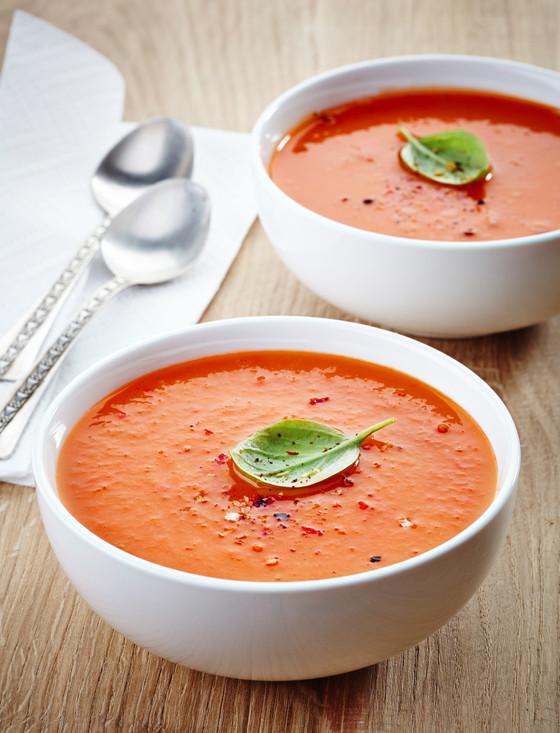 10 Minute Tomato-Basil Soup-Vitamix