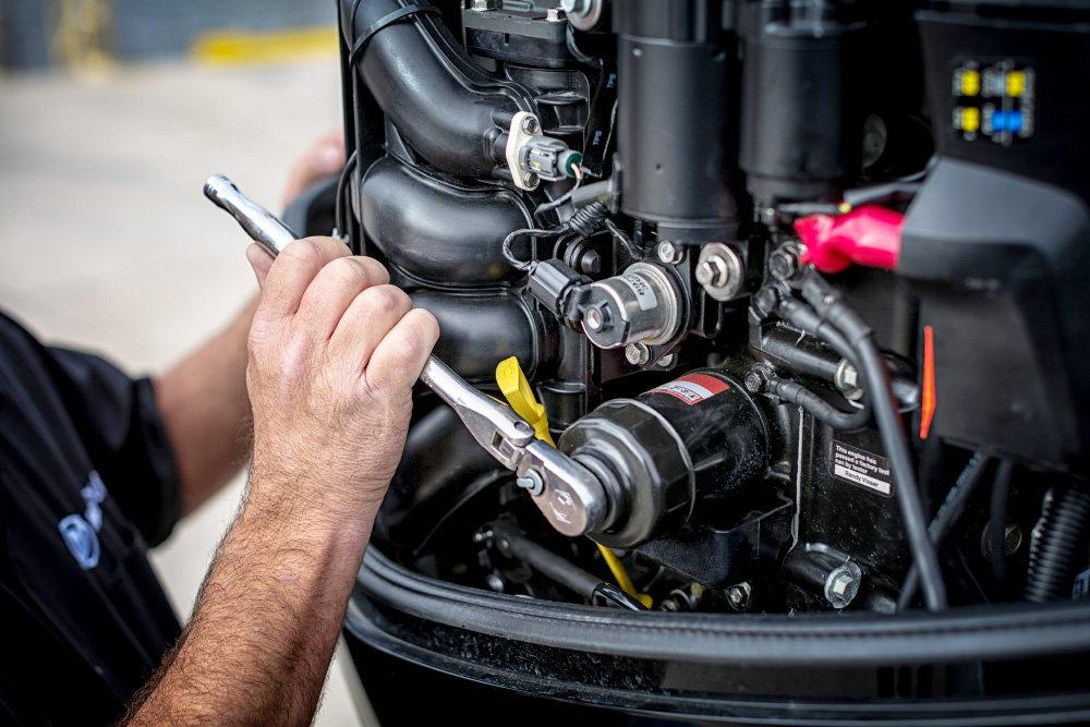 Обслуживание стационарного двигателя