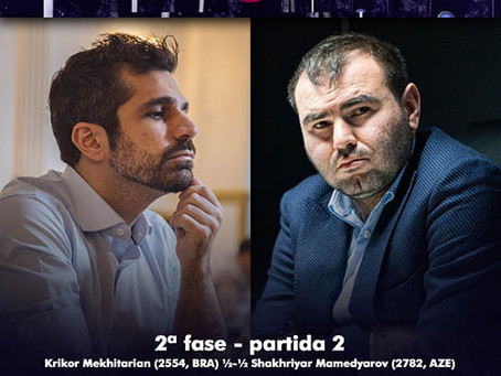 Copa do Mundo de Xadrez - 2ª fase. Krikor empata com Mamedyarov e Fier empata com Vidit.