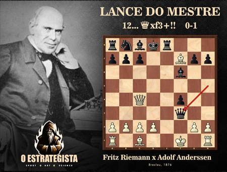 Lance do Mestre #039 - Riemann x Adolf Anderssen