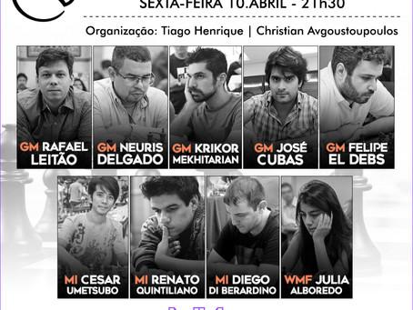 TORNEIO BENEFICENTE COM 5 GMS CONFIRMADOS NESTA SEXTA-FEIRA!