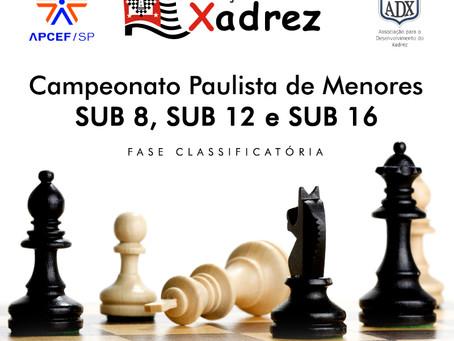 Campeonato Paulista de Menores sub8, sub12 e sub16