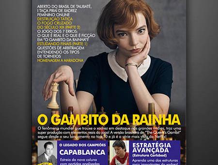 O Gambito da Rainha e Beth Harmon na Revista Xadrez Bem Brasileiro Edição #006 - DEZ.2020