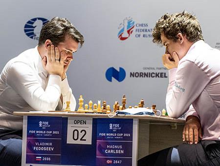 Partida Analisada: Fedoseev 0-1 Carlsen, World Cup Sochi 2021
