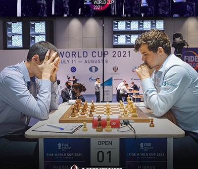 Carlsen, Lagrave e Grischuk avançam para as Oitavas de Final da Copa do Mundo.