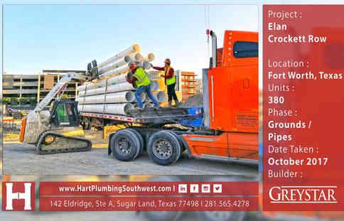 Fort Worth Multifamily Plumbing Project : Elan Crockett Row