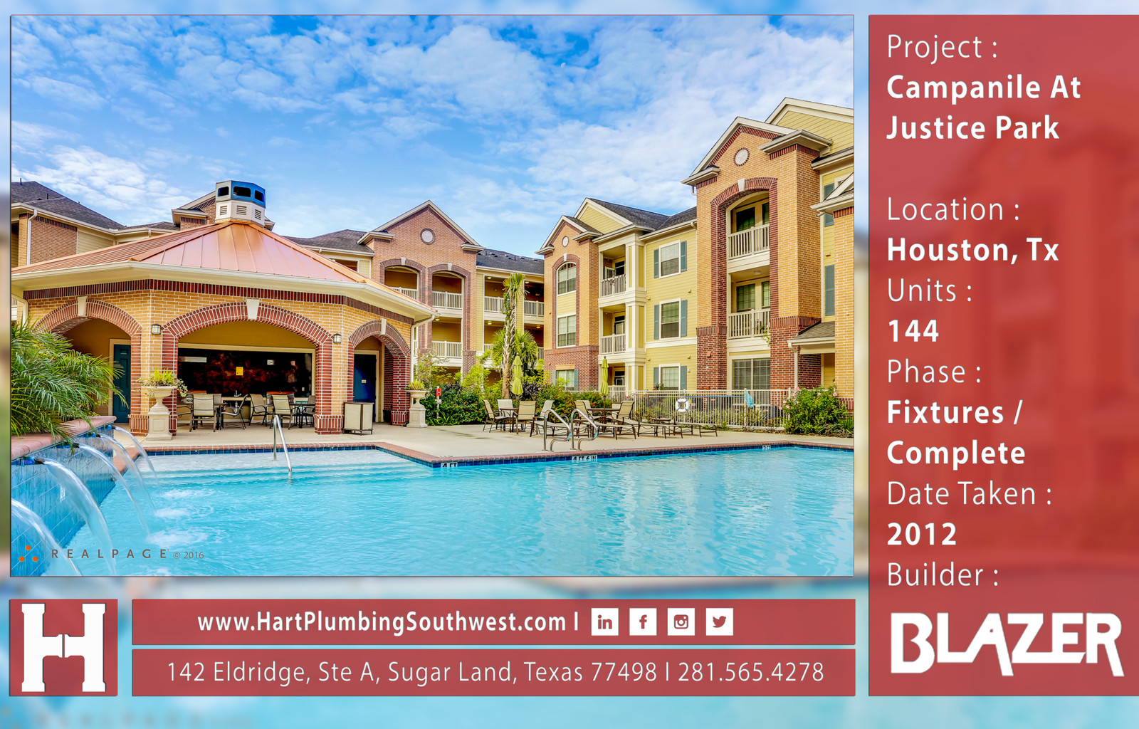 Houston Multifamily Plumbing Project Campanile At