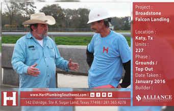 Katy Multifamily Plumbing Project : Broadstone Falcon Landing