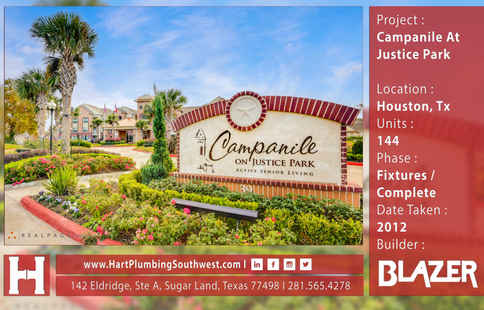Houston Multifamily Plumbing Project : Campanile At Justice Park